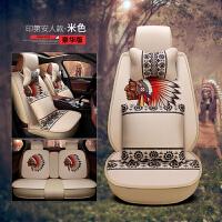 2017新款多色可选高档美国队印第安人麻料汽车坐垫四季通用座垫全包围汽车座垫车垫