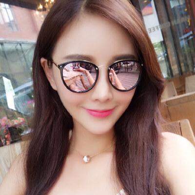 墨镜女潮 眼镜 偏光太阳镜女士圆脸 复古眼镜 支持礼品卡支付 品质保证 售后无忧 支持货到付款