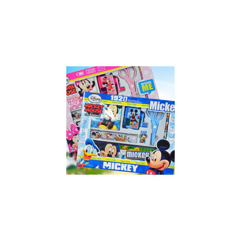 【包邮】迪士尼儿童文具套装礼盒 学生奖品7件套迪士尼幼儿园生日礼物礼品