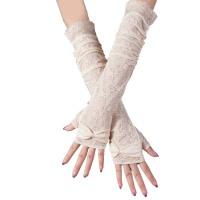 夏季手套蕾丝 开车防晒手套 防滑半指手套 中长款