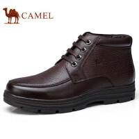 camel 骆驼男鞋 秋冬新款加绒保暖复古休闲皮靴防滑商务皮鞋