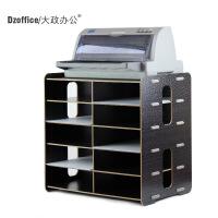 D092大政加厚创意木质办公用品A4票单据打印机多层文件架座框