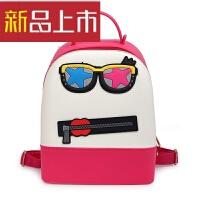 女韩版潮学院风糖果色硅胶果冻双肩包可爱儿童书包女士硅胶小背包
