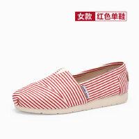 骆驼牌女鞋平底单鞋2017春新款百搭韩版学生休闲鞋老北京布鞋懒人鞋