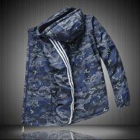 冬季大码棉衣男学生迷彩保暖棉袄胖子运动外套加绒加厚防风衣 迷彩绿 XL