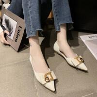 夏季2019新款潮女低帮单鞋欧式潮流字母低跟水钻单鞋粗跟套脚百搭