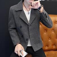 外套男秋冬季韩版潮流呢子上衣修身冬天男士夹克休闲青年个性男装