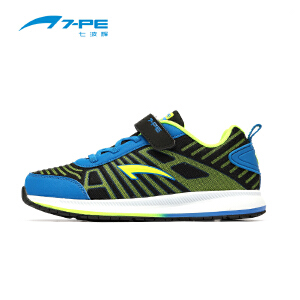 七波辉男童鞋 秋季新款儿童鞋休闲皮面鞋 男童中大童跑步运动鞋