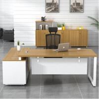 美立居工坊经理桌现代简约班台桌MLJ-Z91办公桌1.6米(含侧柜)