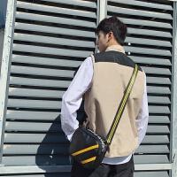 斜肩包男单肩包新款韩版运动单肩包 时尚皮质单肩包户外休闲小包青年斜挎包