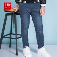 季季乐专柜2017冬季新款牛仔裤加绒时尚DBDK71008
