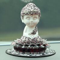 弥勒佛像可爱车载摆饰品车内小车饰品车上装饰品镶钻汽车摆件