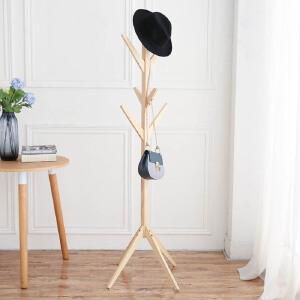 御目 衣帽架 时尚简易落地挂衣架铁艺衣服收纳挂收纳架衣架欧式卧室客厅架子 创意家具