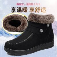 中老年棉鞋女老北京布鞋冬季平底防滑保暖短靴加绒加厚妈妈大码靴