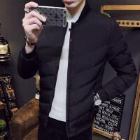 棉衣男冬季新款2018韩版潮流棒球领外套冬装加厚男装棉袄帅气