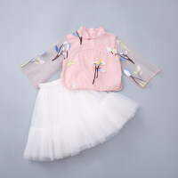 女童夏装套装2018夏季新品中国风两件套唐装裙古风汉服儿童旗袍套