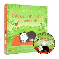 Usborne Phonics Stories Fat Cat On a Mat 垫子上的肥猫 儿童英语自然拼读故事书