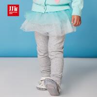 jjlkids季季乐童装春季新品女童打底裤女童蓬松纱裙打底裤PGCJ61027