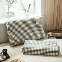 乳胶枕套一对装乳胶枕头专用枕套60x40水洗棉纯棉儿童50x30全棉记忆枕单枕套