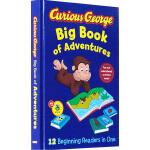Curious George 合辑合集 好奇猴乔治 英文原版 精装12个故事图画书