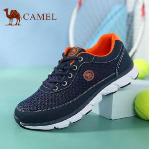 骆驼牌 男鞋 新品运动休闲透气网布跑步鞋轻质低帮鞋男
