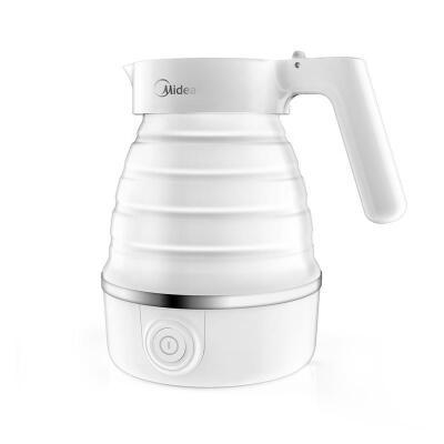 Midea/美的 电水壶 食品级硅胶 折叠水壶 烧水壶 电热水壶 旅行携带 智能防干烧 MK-SH06Simple101 0.6L 可折叠 食品级硅胶 轻巧便携