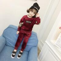 女童秋冬装套装小女孩童装运动服儿童卫衣