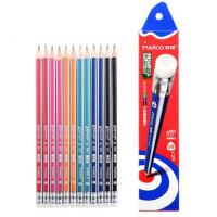 铅笔原木书写HB/2B铅笔学生专用带皮头三角铅笔9001E