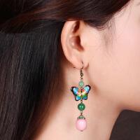 复古耳坠装饰女长款古代优雅中国风耳饰