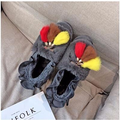 雪地靴女款学生韩版加厚短筒靴子女士新款豆豆雪地棉鞋保暖雪地鞋