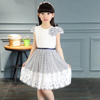 童装女童 连衣裙儿童女装格子公主裙女孩宝宝短袖裙子