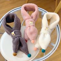 儿童围巾宝宝冬季保暖毛绒套脖公主男女童围脖潮