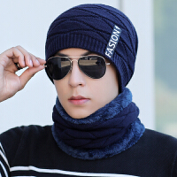 帽子男士冬季保暖针织帽青年防寒帽骑车毛线套头帽
