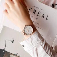 时尚简约女学生手表女表潮流创意无秒针概念石英手表
