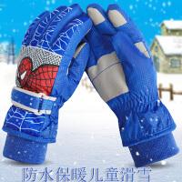 冬天儿童手套男孩滑雪保暖防水女童卡通小学生可爱户外加厚手套