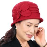 中老年帽子女式冬季老人帽秋冬天礼帽中年妈妈帽婆婆帽