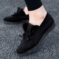 女鞋春秋新款妈妈鞋单鞋软底老北京舒适工作鞋 黑色 291偏小一码
