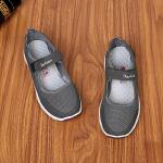 夏季透气女网鞋中老年健步鞋轻便老北京布鞋老人运动鞋妈妈鞋