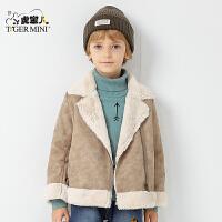 小虎宝儿童装男童加绒加厚外套儿童棉衣2017冬装新款 韩版 春秋潮