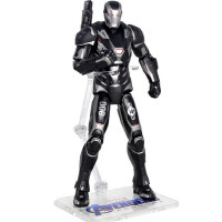 中动漫威手办 复仇者联盟4人偶 玩具黑色钢铁侠mk85模型战争机器
