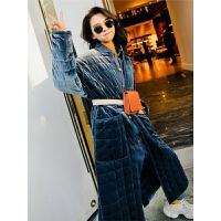 七格格棉袄女2018新款韩版学生冬季丝绒宽松棉衣加厚长款过膝