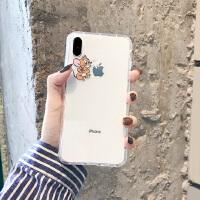 情侣卡通iPhone8plus/7p/6s手机壳XR透明苹果XsMAX软壳猫和老鼠女