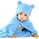 卡伴儿童浴巾斗篷宝宝超柔吸水带帽浴巾新生儿婴儿大浴袍65*110cm