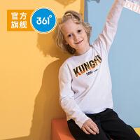【儿童节立减价:53.6】361度童装男童长袖T恤2020年春季新品圆领纯色休闲风百搭T恤N51933271