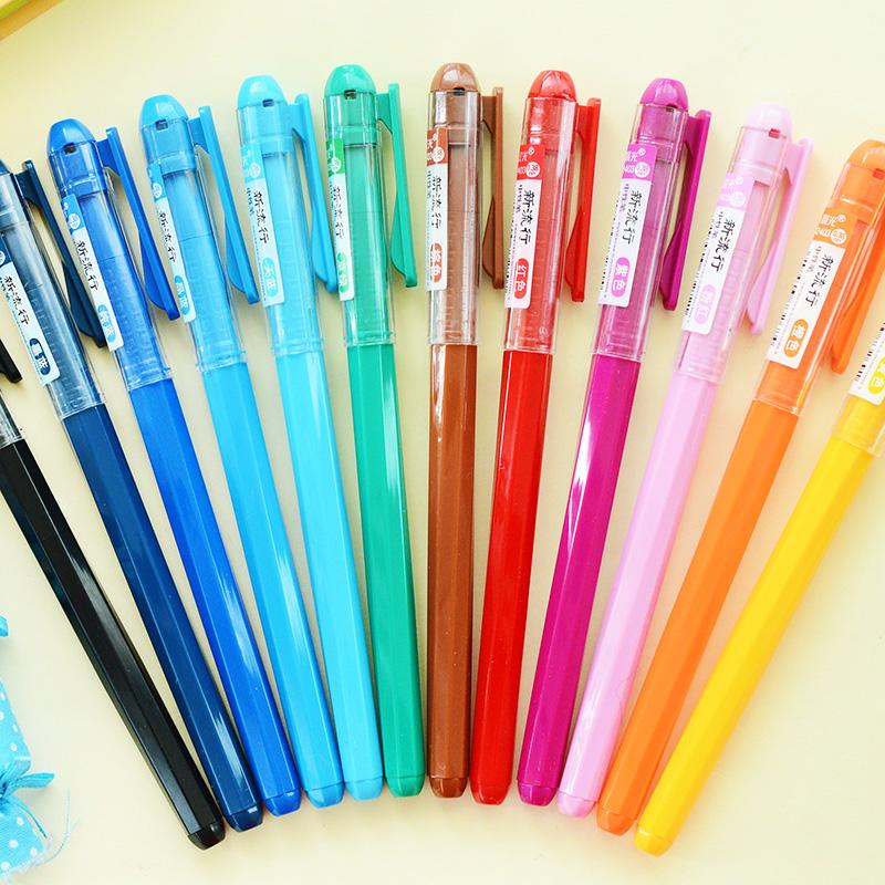 晨光文具 彩色中性笔agp62403 韩国可爱中性笔 水笔0.38mm