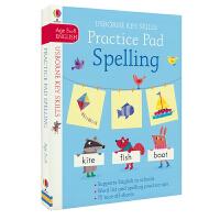 Usborne原版英文 Key Skills Practice Pad Spelling 拼写技能训练 早教启蒙 可撕