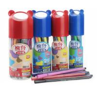 掌握05301熊仔水彩笔套装 学生美术绘画笔 画画彩笔 可洗涂色笔