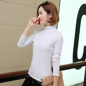 卡茗语春季新款女装t恤韩版修身显瘦打底衫棉质时尚长袖上衣