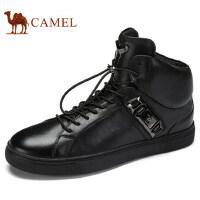 camel 骆驼男鞋秋季新品滑板鞋系带高帮运动休闲鞋时尚潮鞋