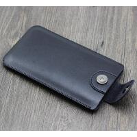 iphone7plus手�C袋�O果8 6s直插皮套手�C包保�o套防滑落xsmax皮套 加大4.7寸 黑色